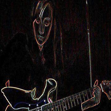 Neon Guitar Girl by lili-feline