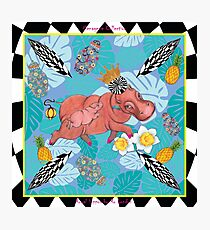 Royal Hippos by Ro London - Menagerie Collection Photographic Print