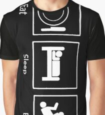 Eat, Sleep, BJJ Graphic T-Shirt