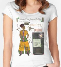 Dwell in Possibility T-Shirt Women's Fitted Scoop T-Shirt