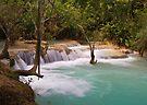 Kuang Falls, Laos by Ian Fegent
