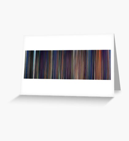 Moviebarcode: The Little Mermaid (1989) Greeting Card