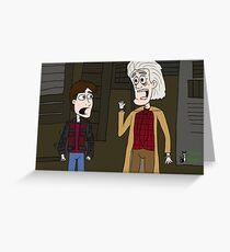 """BttF - Weds, October 21, 2015 ...""""*Size Adjusting - Fit*"""" Greeting Card"""