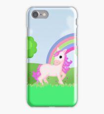 Cute Pink Pony Horse Cartoon iPhone Case/Skin