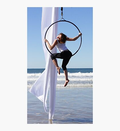 Aerial Hoop Trapeze Beach Camp Photographic Print