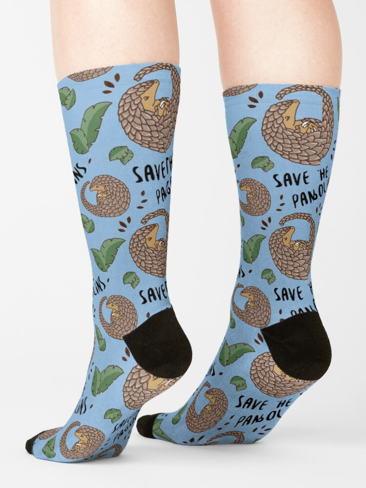 Alternate view of Save the Pangolins - Curled up Pangolin Socks