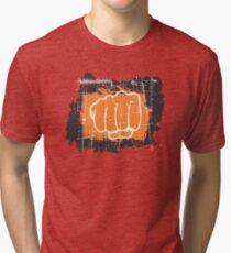 Hand punching Tri-blend T-Shirt