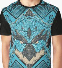 Hunting Club: Azure Rathalos Graphic T-Shirt
