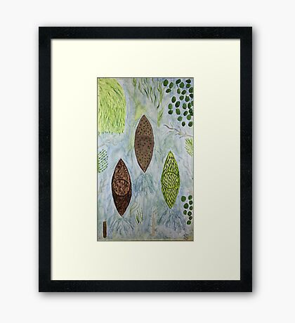 Kayaks Going Home for the Winter on Autopilot  Framed Print