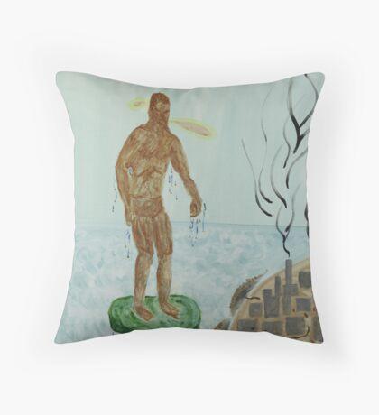 Pollution Avenger Throw Pillow