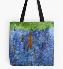 Ash Tree's in a Tossed World Tote Bag