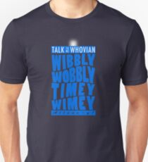 Talk Whovian To Me (version 2, light blue) T-Shirt