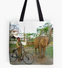 Baby elephant, Manas National Park, India. Tote Bag
