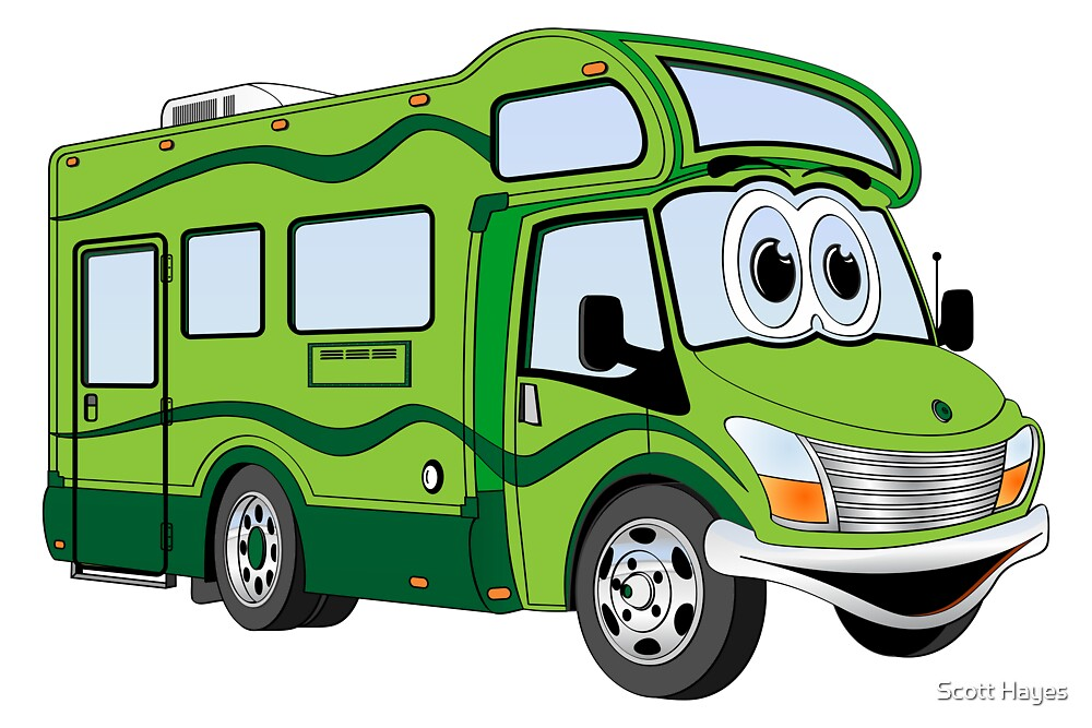 """""""All Green Camper Cartoon"""" by Graphxpro   Redbubble"""
