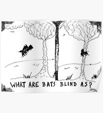 what are bats blind as? Poster
