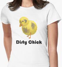Dirty Chick, Funny Cartoon Chicken Design T-Shirt