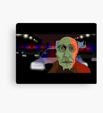Running from the Cops Canvas Print