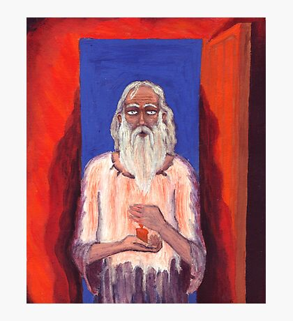 Old Man with Candle oil painting Photographic Print