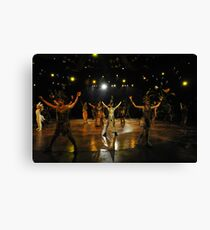 Scene From The Lion King Show. Disneyland, Hong Kong.  Canvas Print