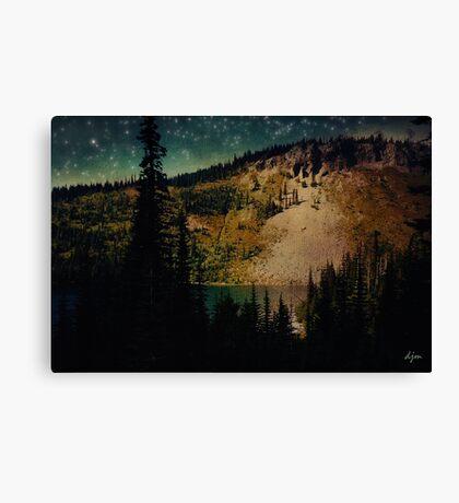 Dusk On The Road To Mt. Rainier Canvas Print
