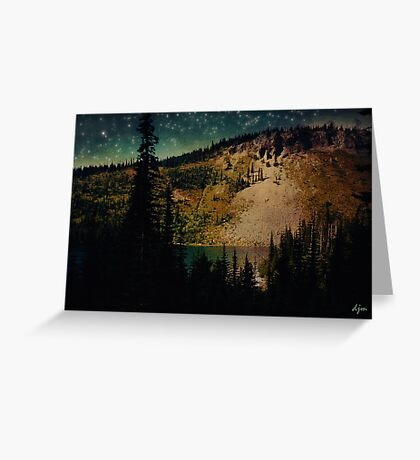 Dusk On The Road To Mt. Rainier Greeting Card