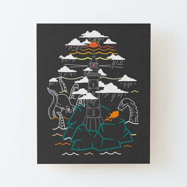 When Legends Meet Wood Mounted Print