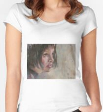 Matilda - Leon - The Professional - Natalie Portman Women's Fitted Scoop T-Shirt