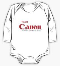"Team Canon! - ""why nikon when you can CANON?"" One Piece - Long Sleeve"