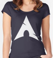 Big-A Arch Linux White Women's Fitted Scoop T-Shirt