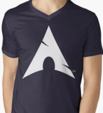 Big-A Arch Linux White Men's V-Neck T-Shirt