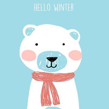 Hello winter- Mr. Bear de KaylaPhan