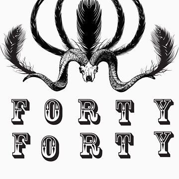 Feather Skull by FortyForty