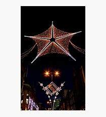 Christmas lights in London  Photographic Print