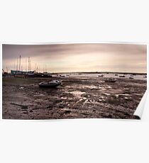 Boats at West Mersea, Essex Poster
