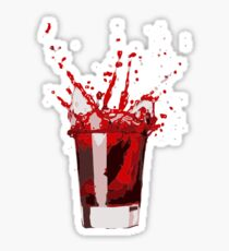 Splashing Cocktail Drink Sticker