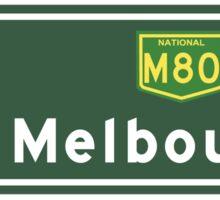 Melbourne, Road Sign, Australia  Sticker