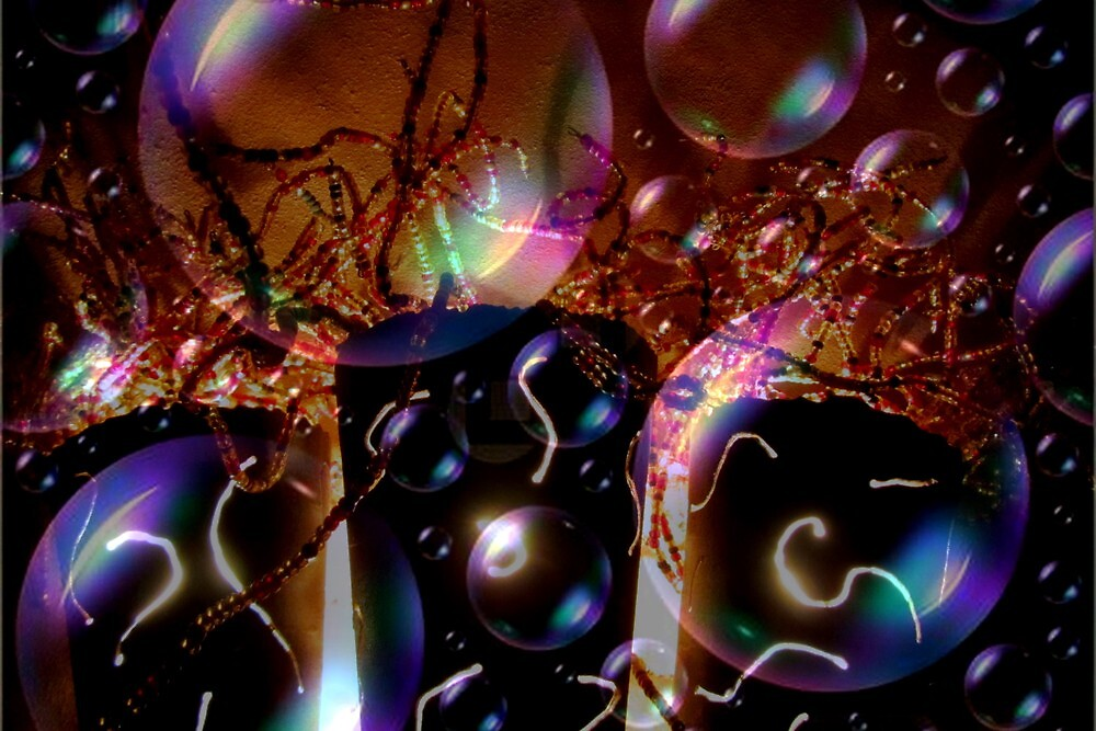 A Bubbly Happy New Year Abstract by Debbie Robbins