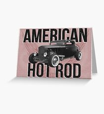 American Hot Rod - red version Greeting Card