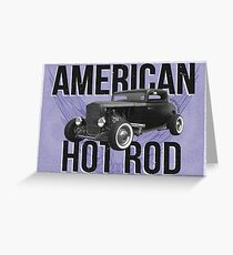 American Hot Rod - blue version Greeting Card