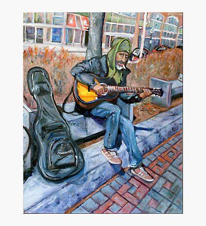 Guitar Man Photographic Print