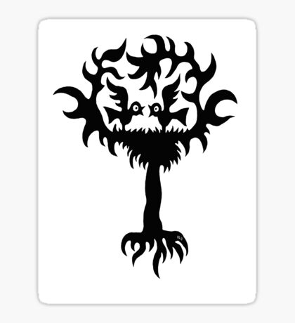 Funny Birds on Tree t-shirt design Sticker