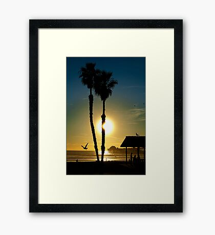 Sunset Oceanside California Framed Print
