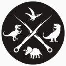 Hipster Dinosaurs Logo (white version) by jezkemp