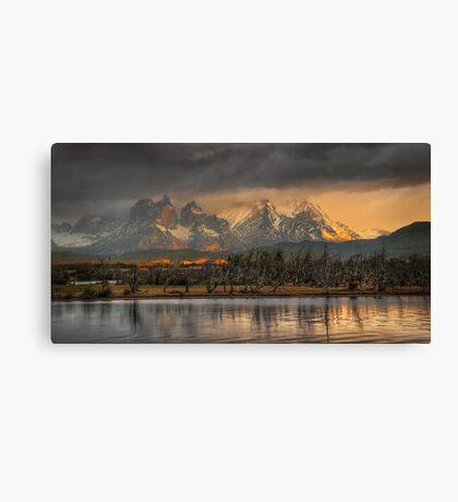 Sunrise in Torres del Paine #2 Canvas Print