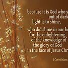 Light's Shining ~ 2 Corinthians 4:6 by Robin Clifton