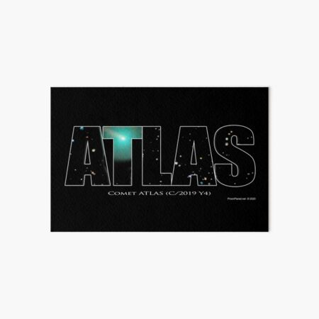 Comet Atlas Art Board Print