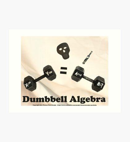 Dumbbell Algebra  Art Print
