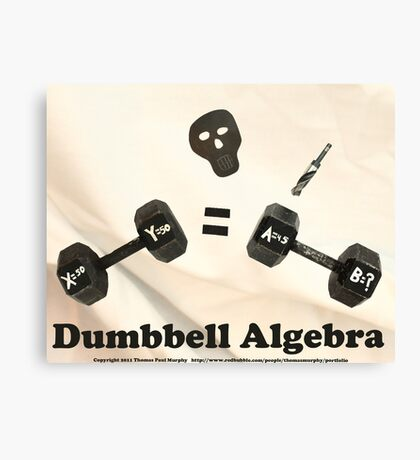 Dumbbell Algebra  Canvas Print
