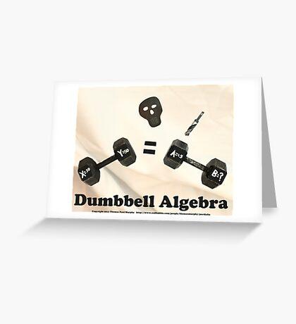 Dumbbell Algebra  Greeting Card