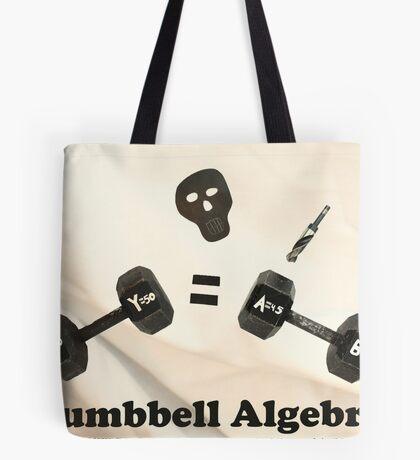 Dumbbell Algebra  Tote Bag